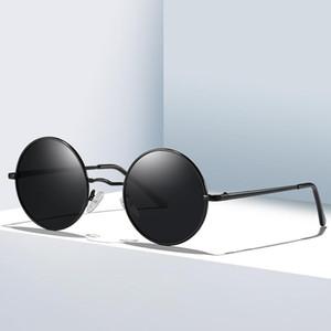 Fondyi Lindas gafas de sol redondas para las mujeres polarizadas UV400 clásico retro pequeño pantalones pequeños tonos elegantes gafas de compras punk con caja