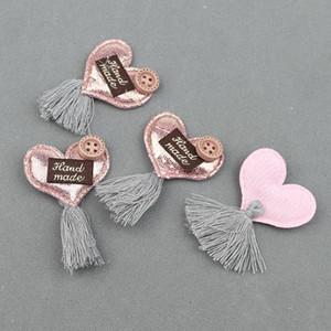 20pcs Padded Stars Heart Tassel Applique Diy Craft Supplies Basteln Kids Hair Accessories Earrings Clothes Sewing Decor Material H jllEul