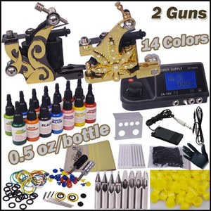 cosmetic tattoo machine 2 guns piercing tool kit lip permanent makeup tattoo beginner kit