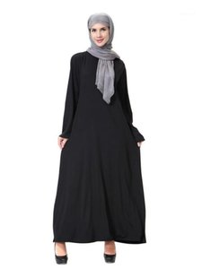 Dubai islamic clothing muslim abaya kaftan dubai arabian dress namaz elbisesi Black1