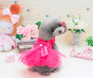 New Coming Korea Pet dogs Dress In Lovely Design New Puppy Dogs Clothing Dress For Dog
