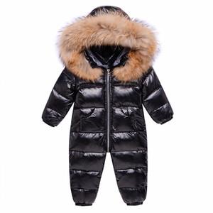 Rusia Overlismo de invierno Ropa de bebé Ropa Snowsuit 90% Duck Down Chaqueta para niños Girl Coat Park para niño Boy Snow Traje Desgaste