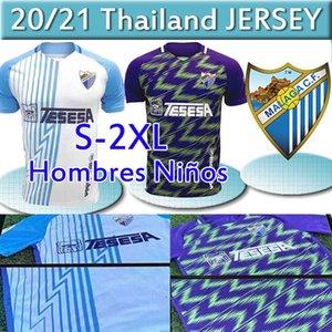 20 21 Malaga Fußball-Trikots Málaga 2020 2021 K. Bare Jersey Juanpi Adrian Football Shirt Juankar Camiseta de Fútbol CF Juande Herrenhemden