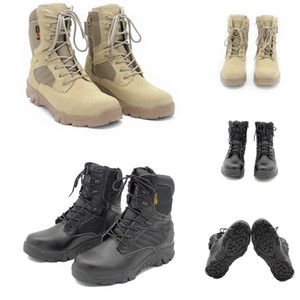 Non-Brand Men Cowhide suede delta tactical military boot outdoor high-top desert combat boots mens shoes Size 39-46
