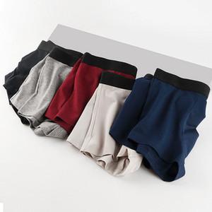 5PCS Boxers Mens Underwear Cotton Underpants Sexy Men Panties Big Size Underwear Boxer Breathable Men's Solid Panty