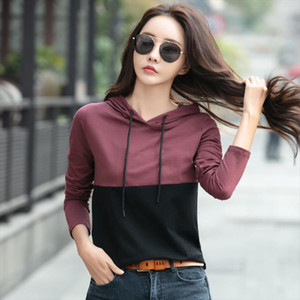 Sportswear Women Hoodies Fashion Patchwork Sweatshirt Woman Outfits Joggers Tops New Arrival Pullover Sweatshirts Drop Shipping