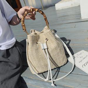 Bolsas de cucharón de paja de mango para mujeres 2021 Bolsos de hombros pequeños Totes de viaje femenino Lady Fashion New Hand Bag