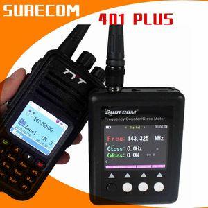 Nouveau Compteur de fréquence portable de la radiocommande numérique de Surecom 27MHZ-3000MHz pour Walkie Talkie SF401 Plus CTCSS CDCSS Mètre