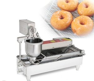 Automatic electric donut maker machine popular doughnut maker commercial donuts making machine stainless steel with 3 molds LLFA