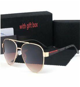 1 unids Marca de alta calidad Gafas de sol Evidencia Gafas de sol Gafas de diseño Gafas de gafas para hombre Las gafas de sol negras pulidas vienen con caja de caja