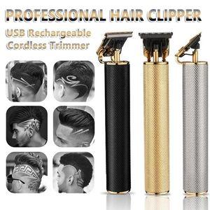 Top Sale Hair Trimmer Barber Haircut Rechargeable Hair Clipper Cordless Hair Cutting Machine Beard Trimmer 0mm Razor Men Shavers SSS