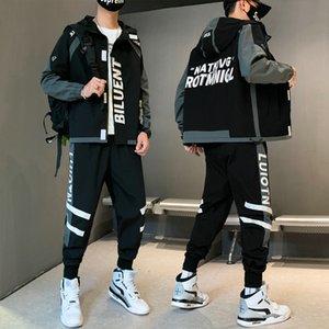التدريب دعوى قطعتين مجموعة من الرجال الرياضية سترة الرجال سترة هوديي و بروش sweatsuit ملابس روبا hombre 2020 جديد زائد الحجم