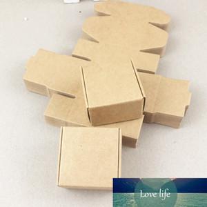 50 adet / grup 4 * 4 * 2.5 cm Kahverengi Hediye Paketleme Kraft Kağıt Kutusu Için Takı \ Düğün \ Şeker \ Crafts \ Cake \ El Yapımı Sabun Paketleme Kutuları