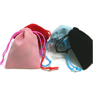 5*7cm Velvet Drawstring Bag Headset Jewelry Pull Rope Bags Gift Christmas Wedding Flannelette Pouch 4 Color 0 3ys G2