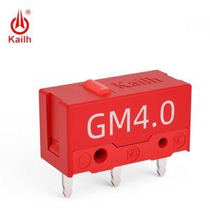 8 pcs Kailh Micro Switch 60m Life Gaming Mouse Micro Interruptor 3 Pin Red Dot usado em camundongos de computador Esquerda botão direito MI126601D01 T200605