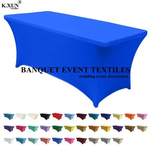 Nice Looking Rectangle Spandex Table Cover Lycra Tablecloth For Wedding Event Party Banquet Decoration