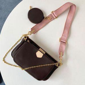 Vendita 3 pezzi Set Designer Bags Donne Borsa a tracolla Crossbody in vera pelle Borse di lusso Borse Progettisti Lady Tote Bags Coin Borsellino Tre articoli