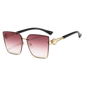 Bingking 2020 nova marca quadrado óculos de sol moda pérola grandes gradient lentes 17211 UV400 Proteção Eyewear1
