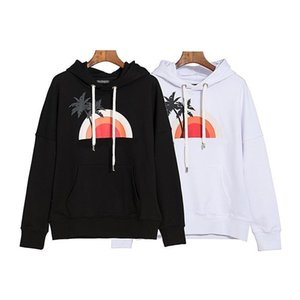 Autumn Wintrer Brandd New Mens Designer Hooddies long sleeve sweater sunset dusk coconut tree Print Pullover Stylist Street Fahsion hoodies