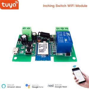 Tuya smart USB 7-32V DIY 1 Channel Jog Inching Self-locking WIFI Wireless Smart Home Switch Remote Control with Amazon Alexa