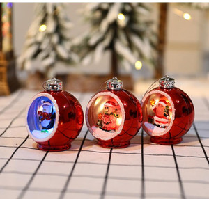 6 Style Christmas Lights Christmas Ornaments Electroplating Luminous Christmas Ball Lights Xmas Gifts LED Xmas Decorations DWF3462