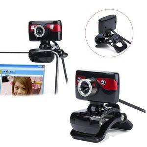 HD Webcam USB Night Vision Video Recording Web Camera with Mic for Laptop PC auto white balance No Driver Web Camera