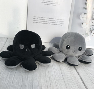 Reversible Octopus Plush Stuffed Toy Soft Animal Home Accessories Cute Animal Doll Children Gifts Baby Com bbyheY yh_pack