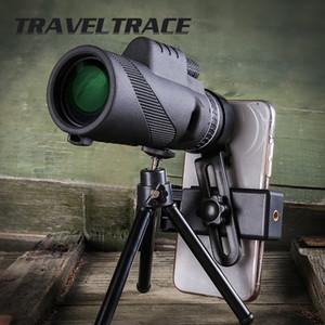 قوية أحادي التخييم تلسكوب للهاتف الذكي 40x60 Spyglass العسكرية التكبير hd الصيد البصريات النطاق مناظير للرؤية الليلية