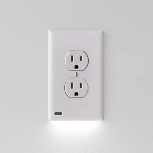 Power GuideLight Outlets New Version LED Light Bar Night Light Electrical Outlet Wall Plate with LED Night Lights Automatic On Off Sensor