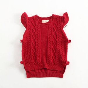 2020 new children's clothing children sweaters girl vest spring autumn and winter baby outerwear knitted vest