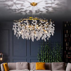 Lampadario a LED moderno Lampadario Lampadario di lusso decorazione della casa Lampadari Lampadari Soggiorno Hanglamp K9 Crystal Lobby Lighting