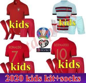 2020 national team child kids kit RONALDO JOÃO FÉLIX youth EDER QUARESMA 20 21 Maillot De Futol Shirt Uniform Thailand Soccer Jerseys