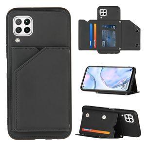 حالة المحفظة لهواوي P40 Lite P30 Pro حالة الهاتف الفاخرة لهواوي P SMART Z Y9 Prime Nova 6 Card Pocket Cover