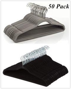 Cintres de velours antidérapants de costume Cinqs Space Space Saving Vêtements Cintre Ultra mince Espace Économie à 360 degrés Crochet pivotant fort et durable