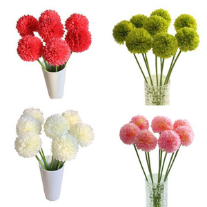 5-piece Romantic Lavender Ball Artificial Flower Pillow-shaped Silk Flower Bouquet 5 Colors Home Decoration For Wedding K15