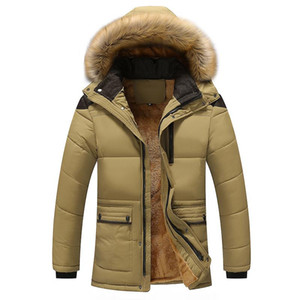 Boutique The new men's winter and velvet with thick warm cotton-padded clothes, leisure fashion coat old dad man winter jacket