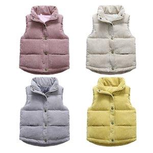 2021 Autumn Girls Warm Vest Winter Boys Thicken Waistcoat Kids Outerwear Vest Children Teens Cotton Jackets Vest For 3-10 Years LJ201130