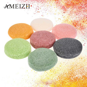 Natural Konjac Sponge Cosmetic Puff Soft Face Cleaning Sponge Powder Puff Facial Cleanser Washing Flutter Makeup TSLM2