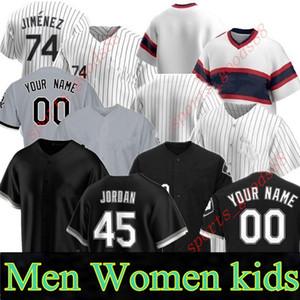 Özel Yeni 20 21 Erkek Kadın Gençlik Görkemli Beyaz Jersey Jose Abreu Eloy Jimenez Yoan Moncada James McCann James McCann Leury Garcia Jersey