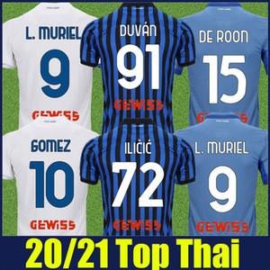 20/21 Atalanta Soccer Jerseys 2020 2021 Maglia Da Atalanta BC Gomez Duvan Ilicic Football Jersey de Roon Gosens Malinovskyi Football Offe
