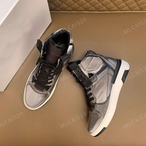 2021 Luxurys Designers Men WING High Top Sneaker Genuine Leather Mens Flats Trainers Sneaker Black White Multicolor Casual Shoes