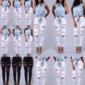 FDST Side Creat Chain Hollow out wide-perna mulheres jeans cintura alta calça sexy elegante senhora flare jeans ladieswomen jean