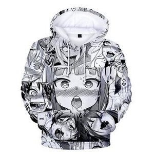 2020 New Ahegao 3D Hoodies Hentai AHE Kawaii Anime O-Face Sweatshirts For Men Women Harajuku Pullover Unisex Costume Tracksuit Y1204