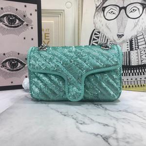 Ultimo MARMONT MINI SAILUMIN BAG BAG 446744 Borse da donna in argento nero oro verde taglia 22 * 13 * 6 cm