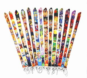 New Wholesale 500pcs Popular Badge Lanyard for Keys Japanese Anime Mobile Phone Neck Straps Cartoon Keychains Lovely Gift for Children