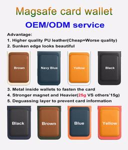 2020 New Leder Magssafe Brieftasche Kreditkarten Bargeld Taschenhalter Pouch für IP12 Mini Pro max