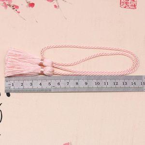 5 unids 54cm cinta de cuerda dos cabezas largas borlas de bricolaje artesanía accesorios decoración borde franja casero cortina textil tassels colgante H jllphe