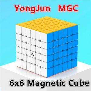 Yongjun MGC 6x6x6 Cubo MGC 6x6 Cubos Mágicos Magnéticos 6x6x6 Cubo Antistress Cubo YJ MGC 6X6 Magic Puzzle Brinquedos para Adulto e Kids 201219