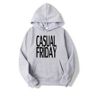 Casual Fridays Unisex Sweatshirts Mens Casual Hoodies Tops Autumn Winter Pullover Vintage