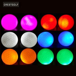 4 pcs Crestgolf por pacote Hi-Q USGA led bolas de golfe para a noite treinamento de luxo bola de golfe bolas com 6 cores Q1201